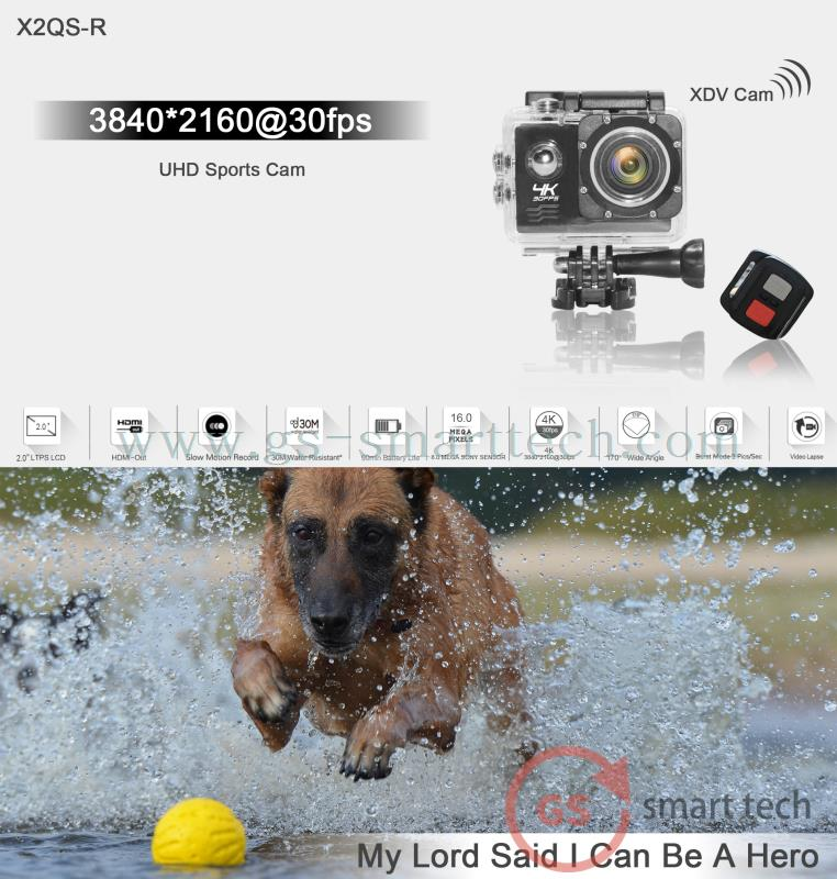 NEW Ultra HD 4K Action Camera 2.0' LTPS LCD WiFi Sport DV Wireless Remote Control
