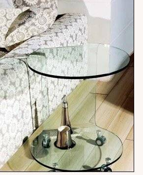 Modern and contemporary hot bend glass beside nightstand
