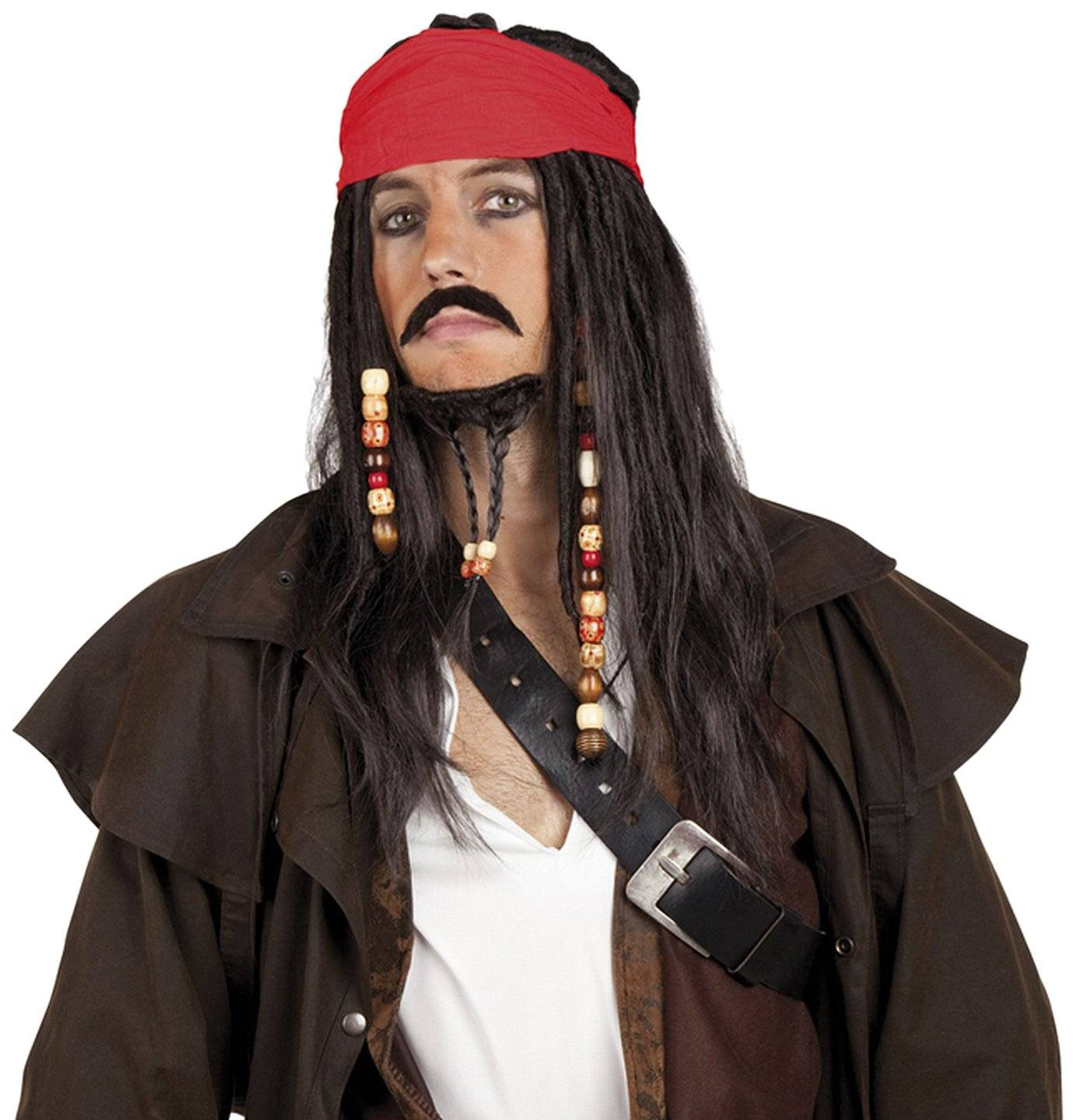 Man pirate costume wig