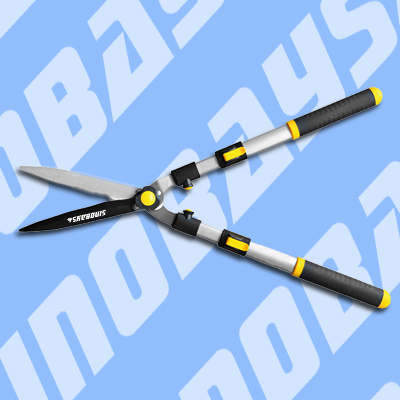 Telescopic hedge shears with extendable arm