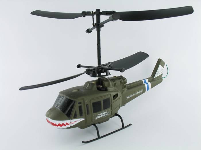 TIGER SHARK 3 CHANNEL REMOTE CONTROL MINI HELICOPTER RTF DOUBLE ROTOR HEADS