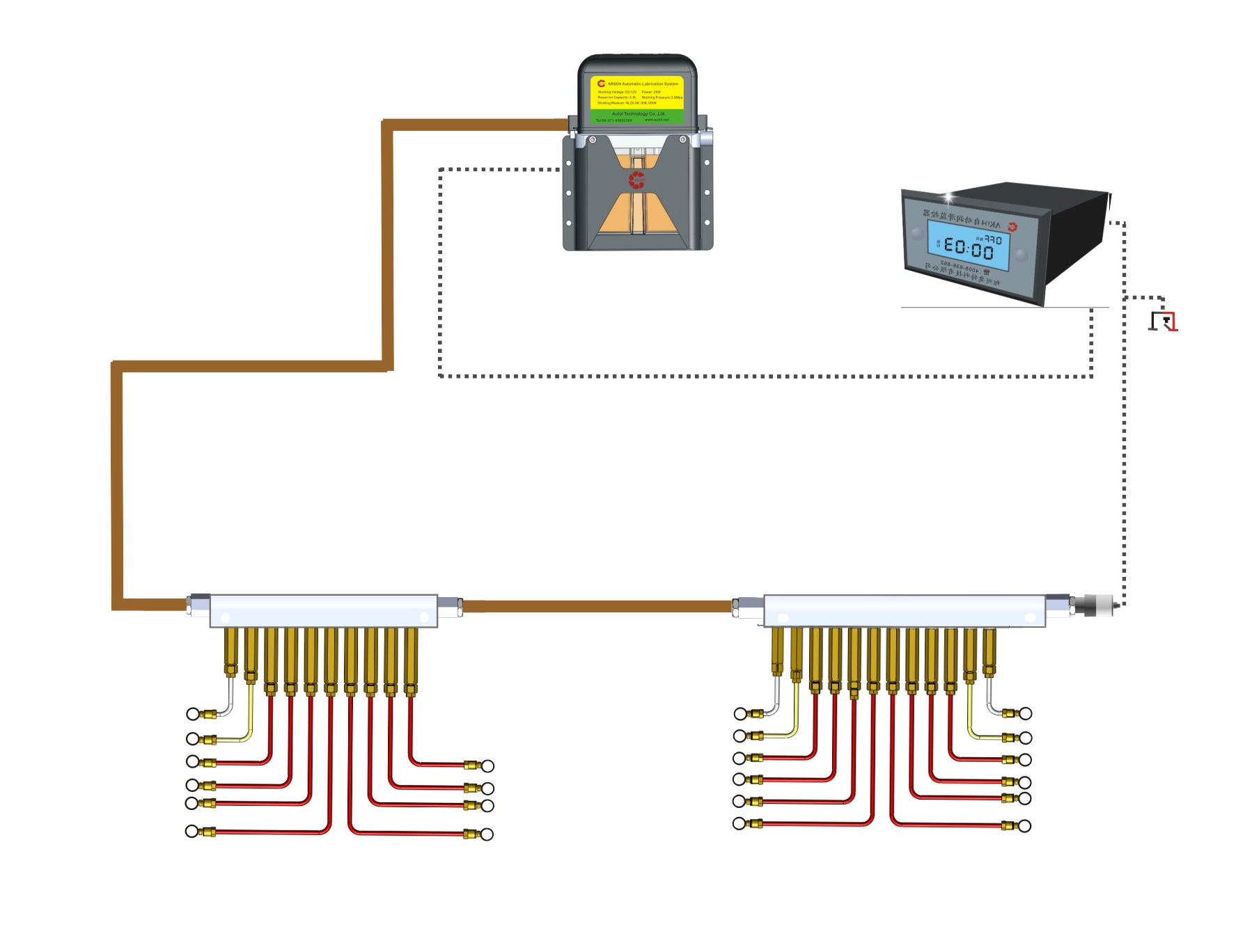 Bus / Truck Lubrication System ,Vehicle Lubrication System
