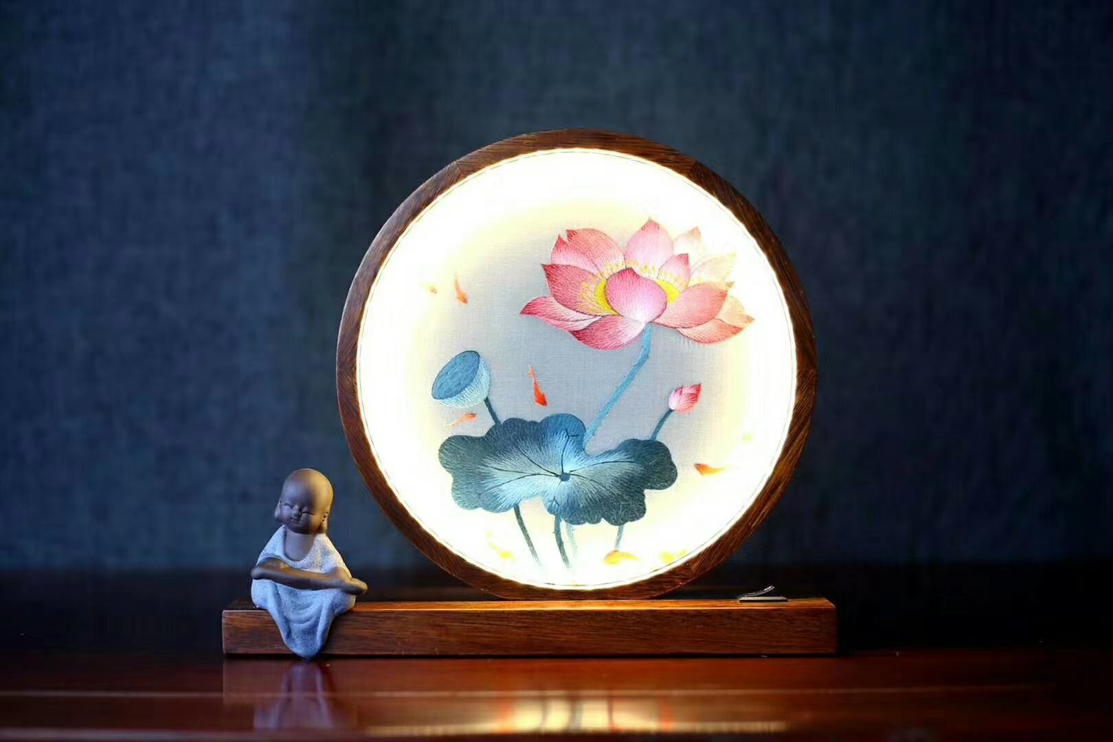 best home decor chinese embroidery handicraft desk lamp