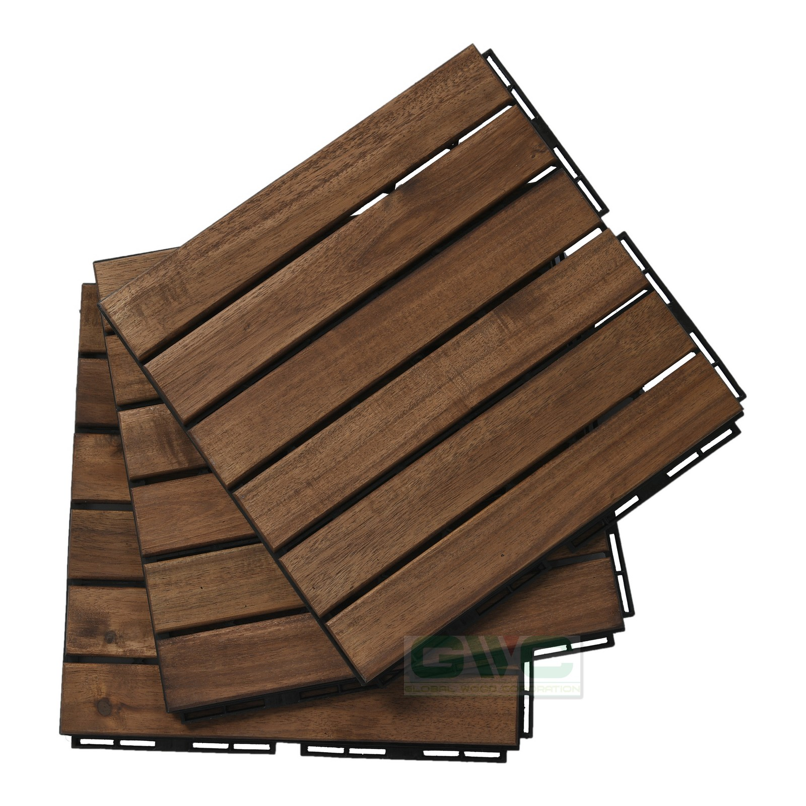 NK Vietnam Wood Interlocking Deck Tiles For Garden/Balcony