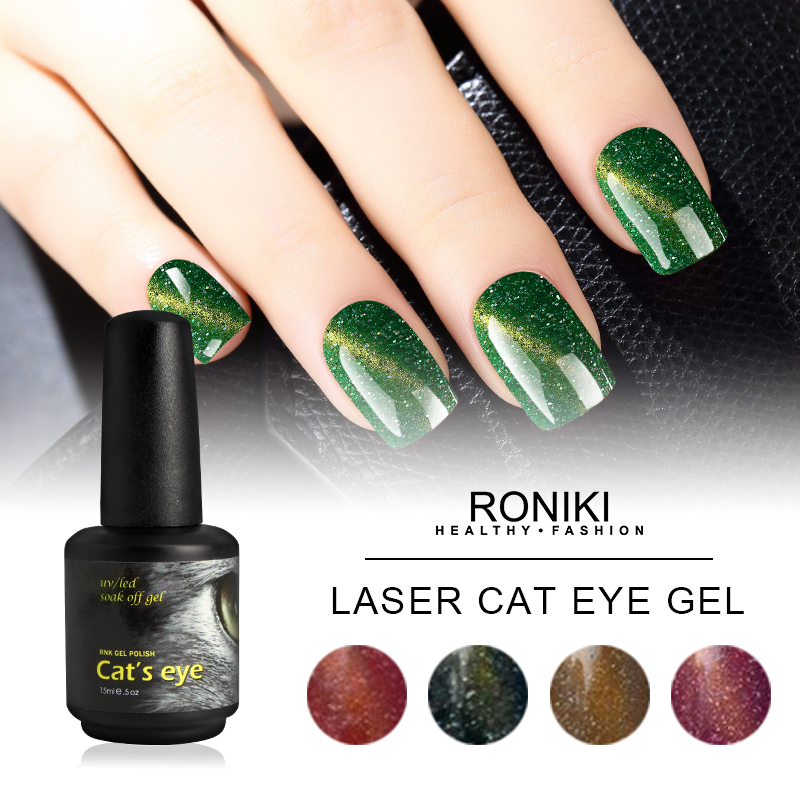 RONIKI Laser Magnet Cat Eye Gel Polish,Cat Eye Gel,Laser Cat Eye Gel Polish,Variety Cat Eye Gel