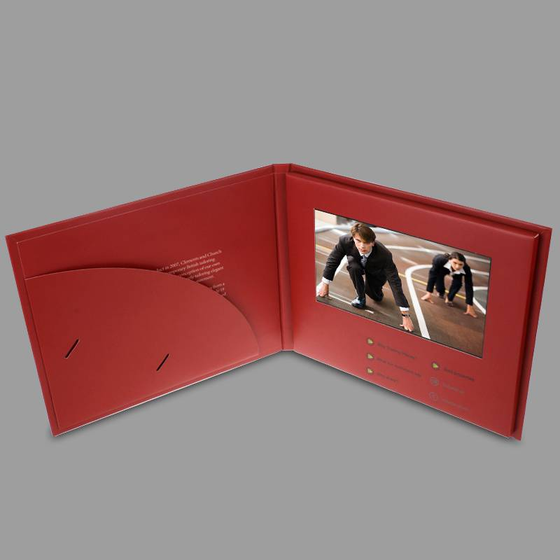 2016 unqiue souvenirs and promotion gift 7 inch lcd video mailer,video book