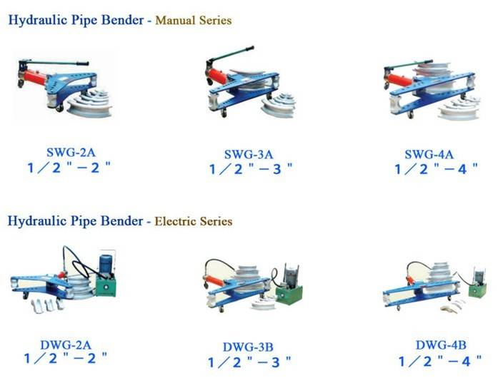 3'' hydraulic electric pipe bending machine DWG-3B