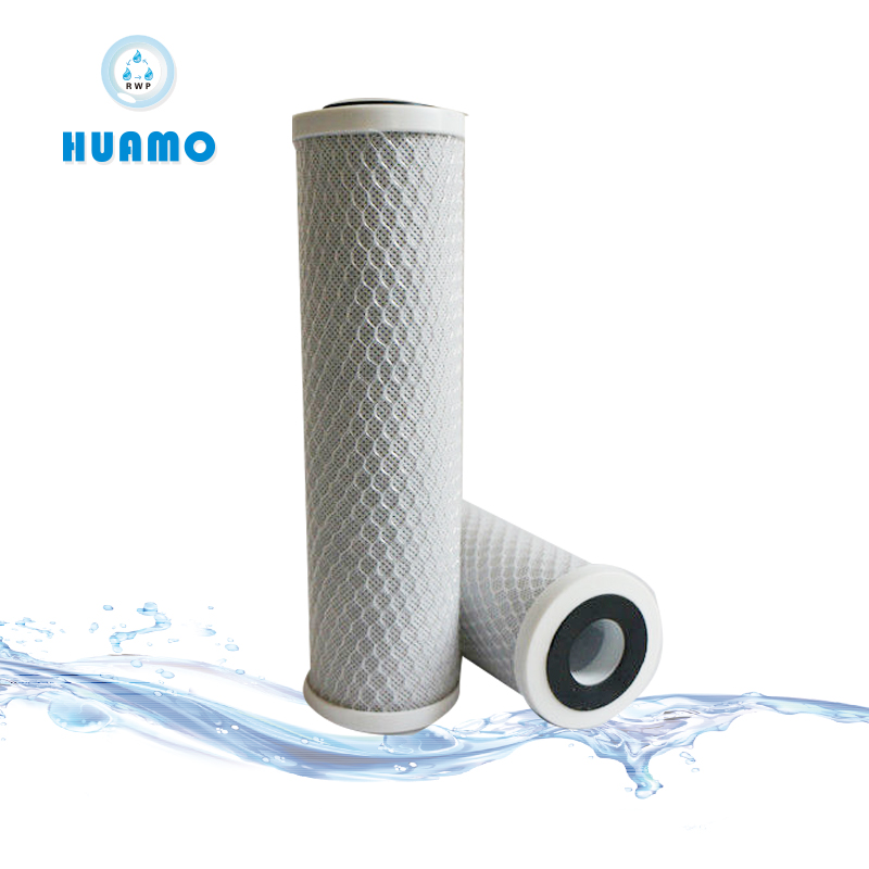 CTO Activated Carbon Block Water Filter Cartridge For Household Water Treatment