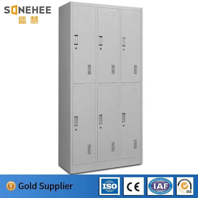 High quality cold rolling steel plate 6 doors metal locker