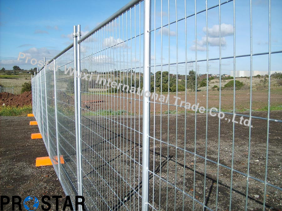 Safety Temporary Fence with Concrete Filled Feet