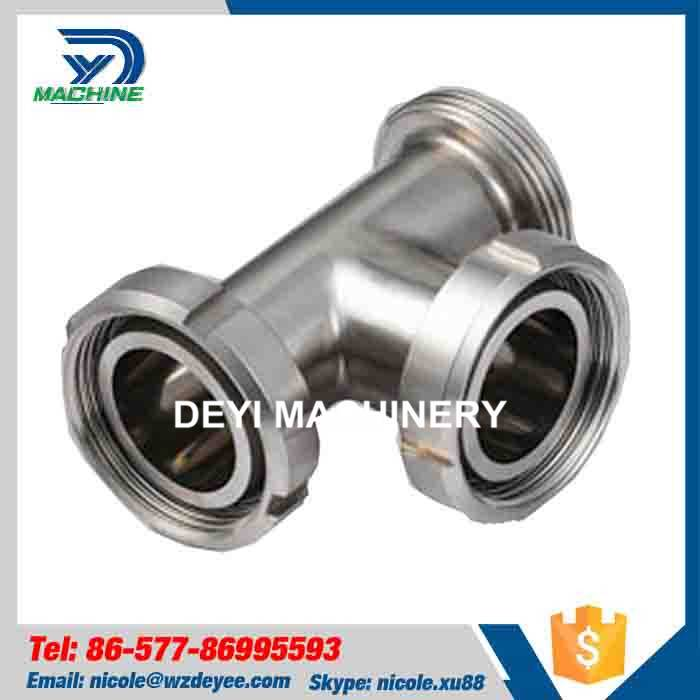 Stainless Steel Hygienic Thread Tee with Union