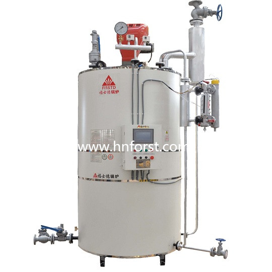 small 300kg vertical automatic gas fired steam boiler