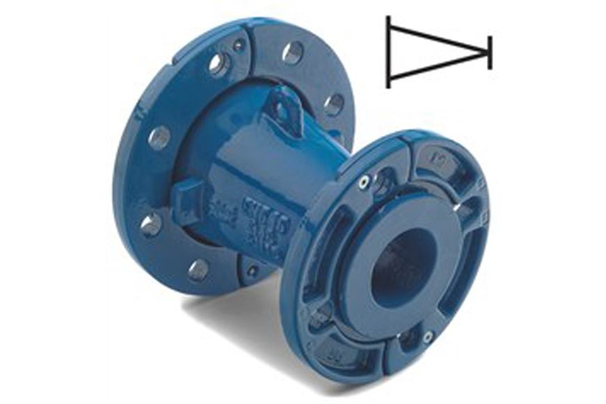 Flanged reducer w-loose flanges