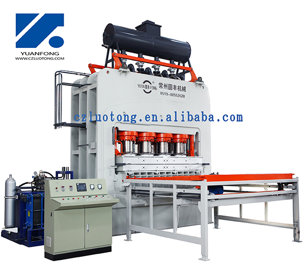 short cycle press machine for particle boards