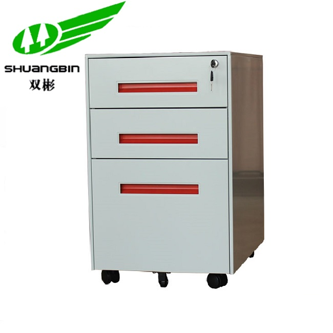 3 Drawer Steel Mobile Filing Cabinet