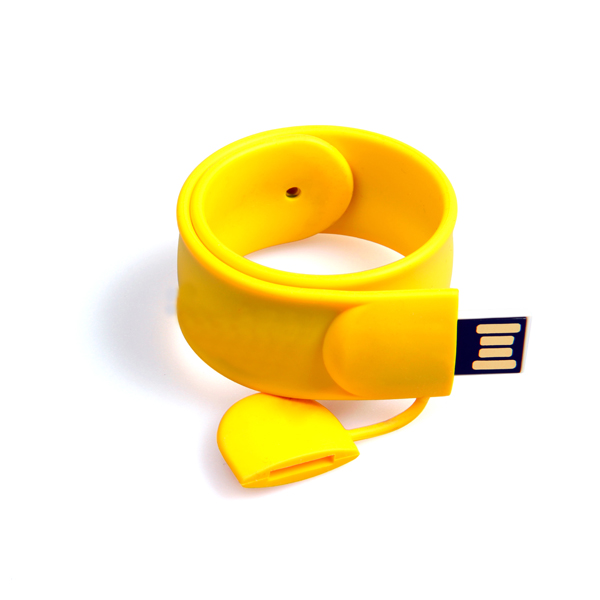 Promotional gift usb flash drive 4gb silicone slap bracelet usb