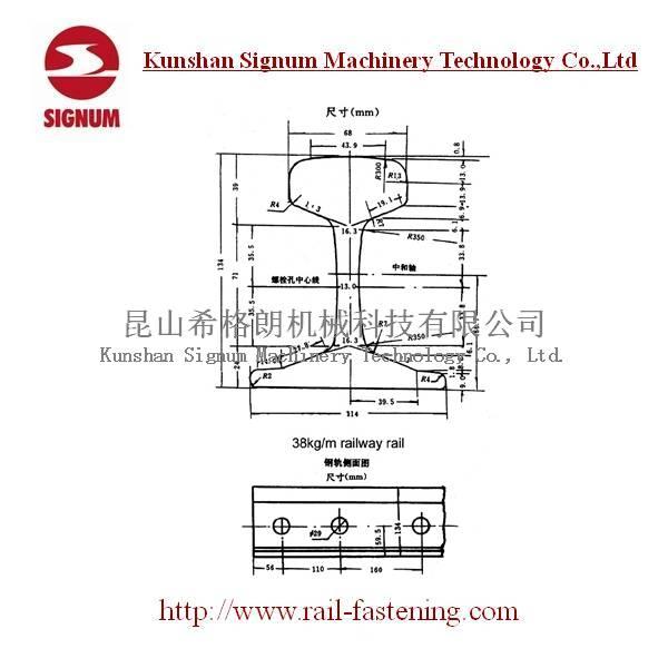 Chinese Standard 38KG Steel Rail