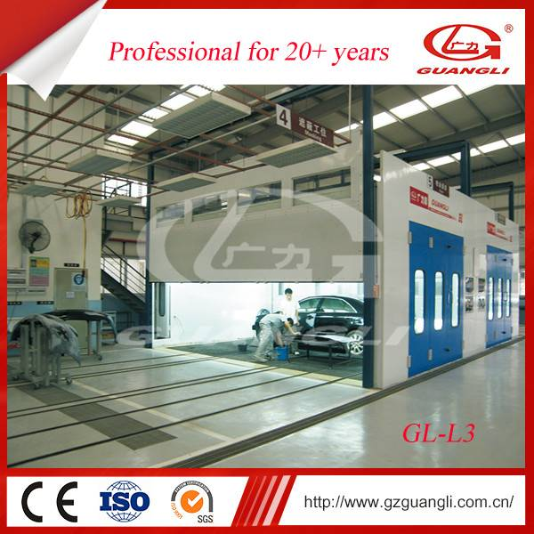 Factory Supply GL-L3 Multi-station High Quality Auto Powder Coating Painting Line booth