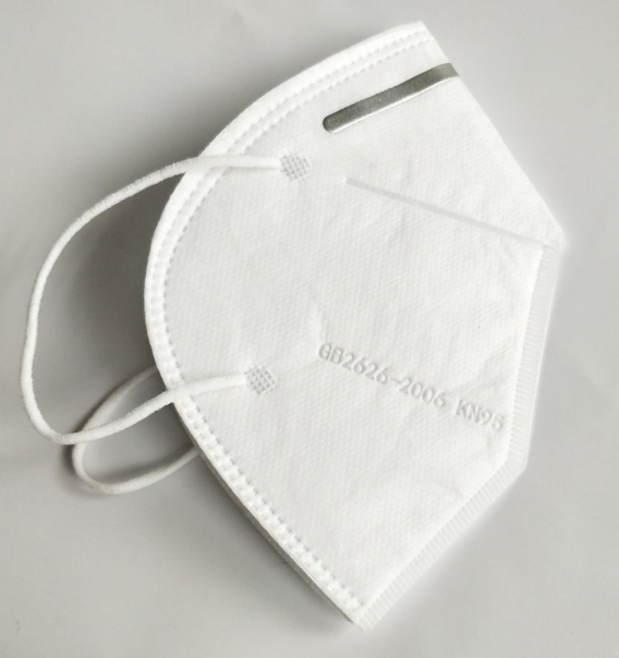 Disposable White Flat Foldable Dust-proof Anti Virus CE Certificate FFP2 KN95 mask