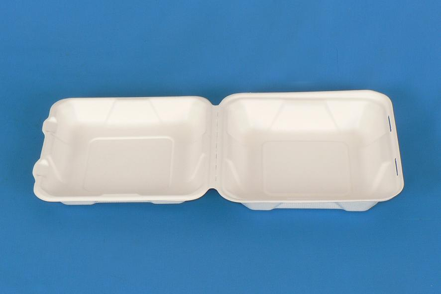 8 inch disposable takeaway fast food bulk pack paper clamshell