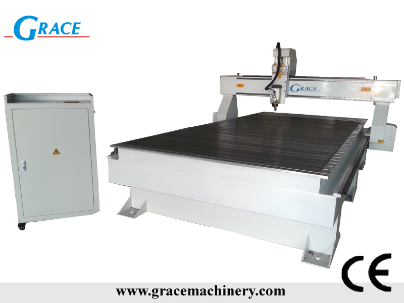 1530 4.5kw HSD air cooling spindle cnc router machine for MDF
