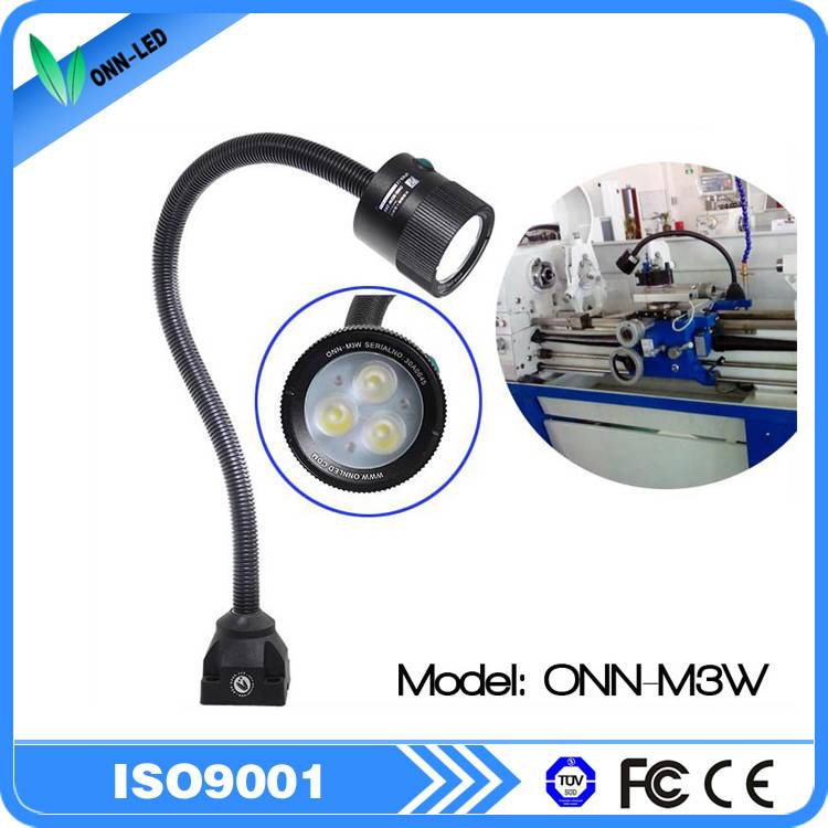 Flexible arm led machine work light IP65 and fixed by screws