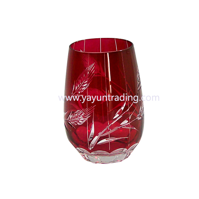 best selling cheap high quality hand cut glass tumbler for five star hotel and wine shop