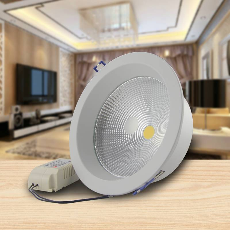 20W White COB LED Downlights 20w 5 Inch For Bedroom Dinning Room