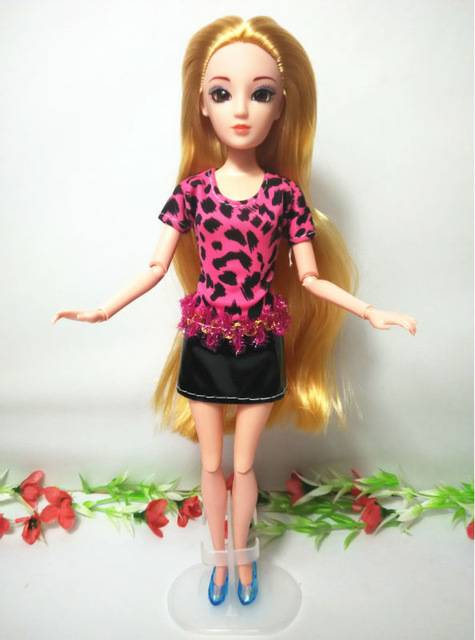 Customized 3D Supersize Eyes Princess doll blond hair Plastic Toy