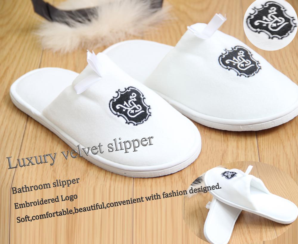 cotton velour disposable slipper eva sole Hot sale