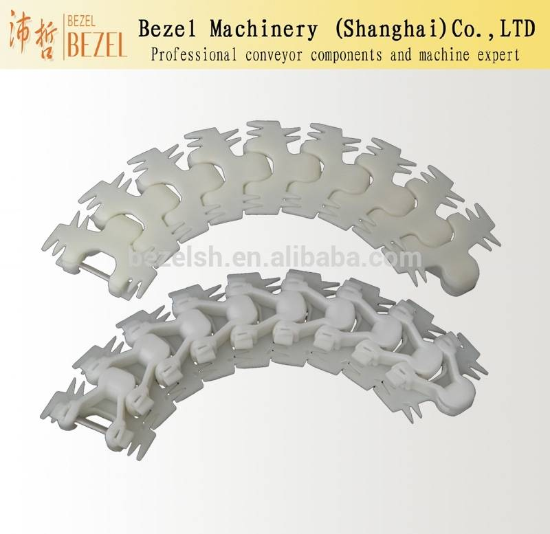 Plastic Curve Chains flexible chains for conveyors