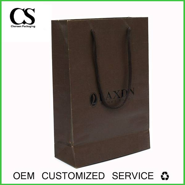Lamination custom paper packaging watch shopping bag