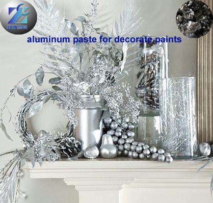 Imitation plating aluminum paste for plastic coating with good metal effect