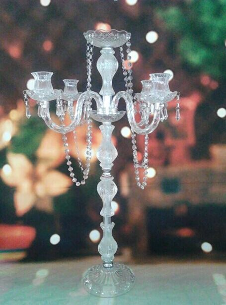 high quality wedding and party use tall crystal candlesticks