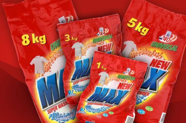 NEW MAX 1kg, 3kg, 5kg, 8kg, BIG BAG - UNIVERSAL WASHING POWDER