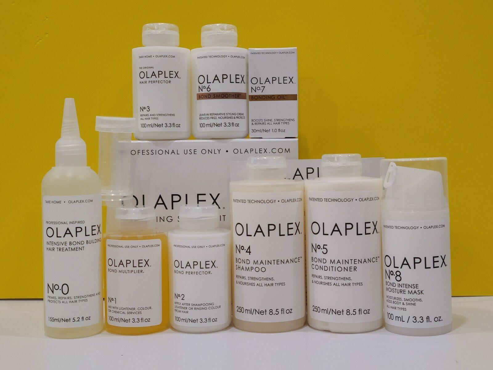 OLAPLEX No. 0, No.1, No. 2, No. 3, No.4, No. 5, No. 6, No. 7 , No. 8 FULL SET SEALED