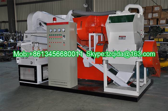High separation rate copper cable granulator