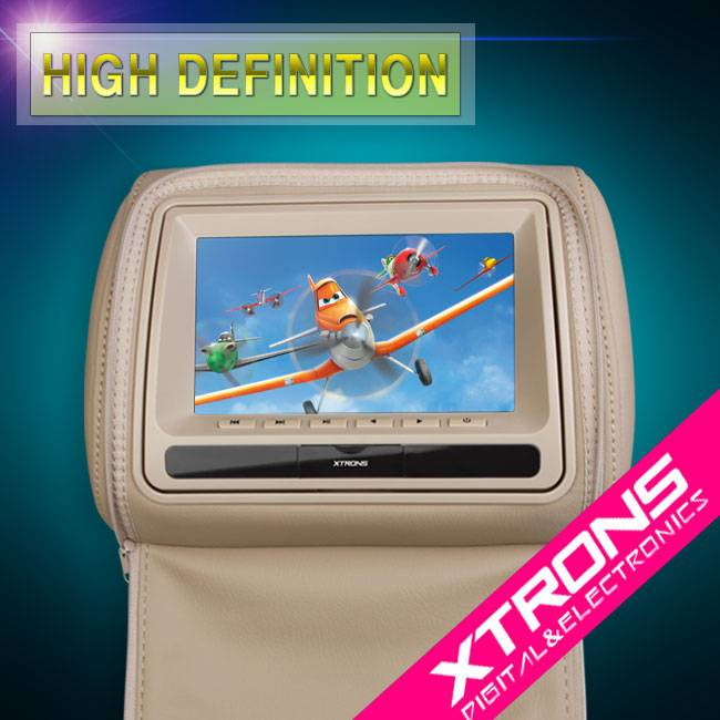 "2x7"" Car Headrest Digital LED Anti-Static DVD player (Promotion!)"