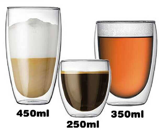 Borosilicate glass Double wall glass hand blown heat-resisting glass coffee cup special design glass