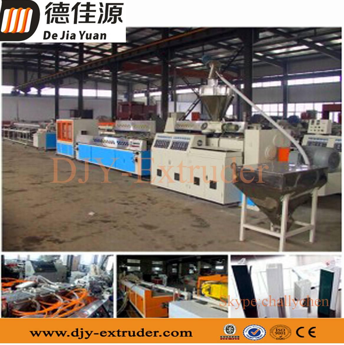 PVC plastic profile extrusion line/PVC window production line