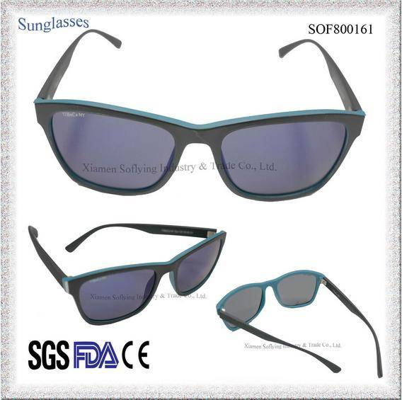 Fashion Polarized Sunglasses Mirrored Square Sun Glasses with Custom Logo