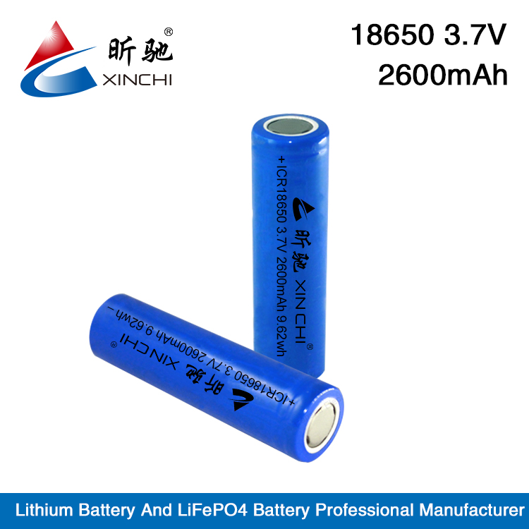 Cylindrical Type 3.7V Rechargeable 2600mah 40A 18650 Li ion Battery