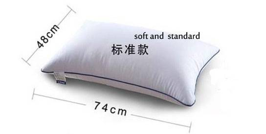 pillow with 100% microfiber