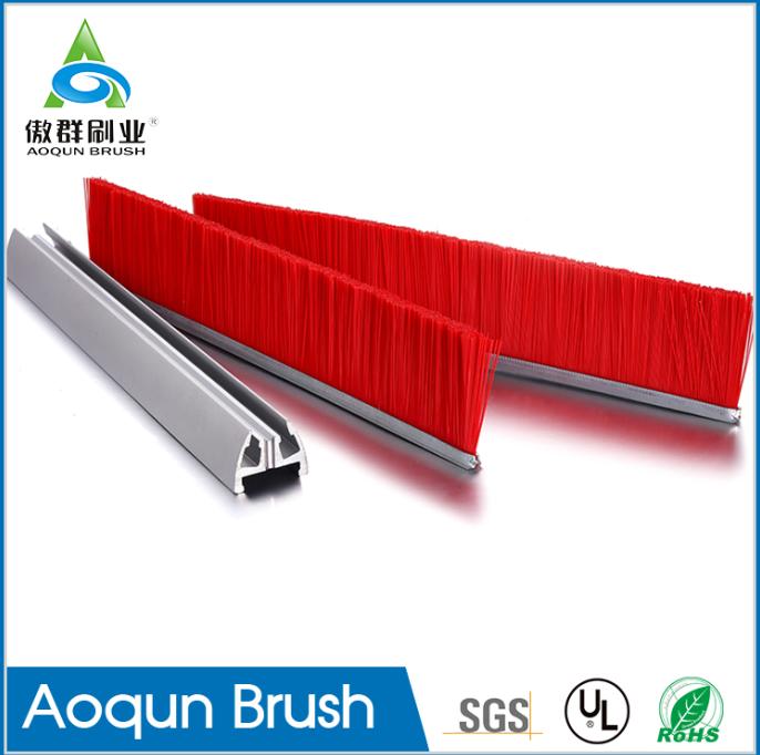 escalator safety brush