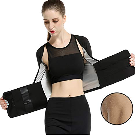 Women Burst Slim High Waist Tights Sweat Clothes Compression Shirt Tops Fat Burner Belt gym wear
