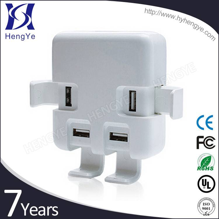 Golden supplier 5v 6A larger output 4 port usb multi charger with travel power adapter plug