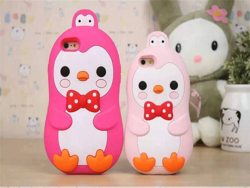 Mobile phone accessories phone case animal silicone case for iphone 4 4s