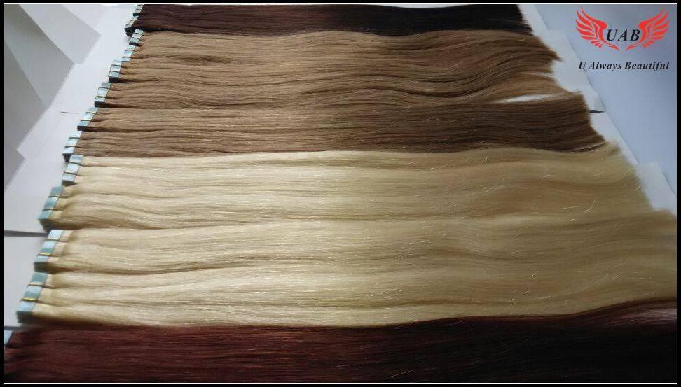 100% human hair Skin weft Tape hair