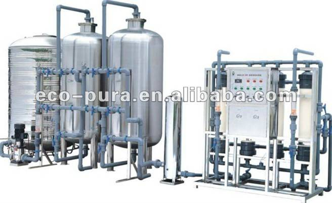 8000L/H Ultrafiltration Water Treatment System / Mineral Water Treatment Plant
