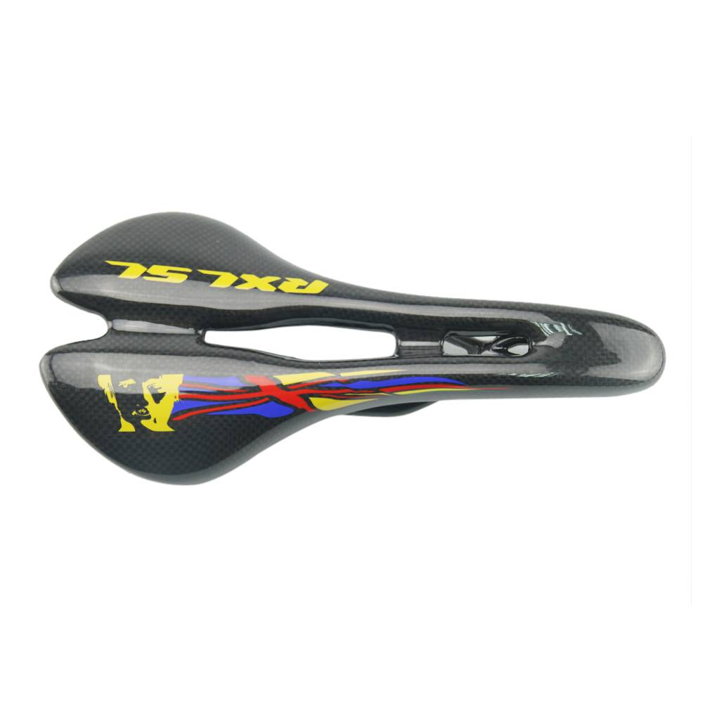 Full Black 100% Carbon Fiber Mountain Bicycle Saddle Racing Bike Carbon Saddle With 275*143mm